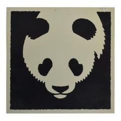 Modern Chinese Panda Bear Art Poster Lithograph