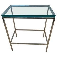 Modern Chrome End or Martini Table