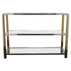 Modern Chrome Sideboard with Glass Shelves