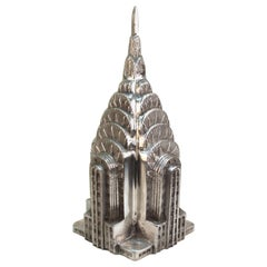 Modern Chrysler Building Aluminum Architectural Scale Model