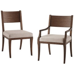 Modern Classic Brushed Oak Dining Chairs
