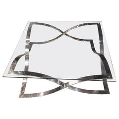 Modern Coffee Table Chrome Frame