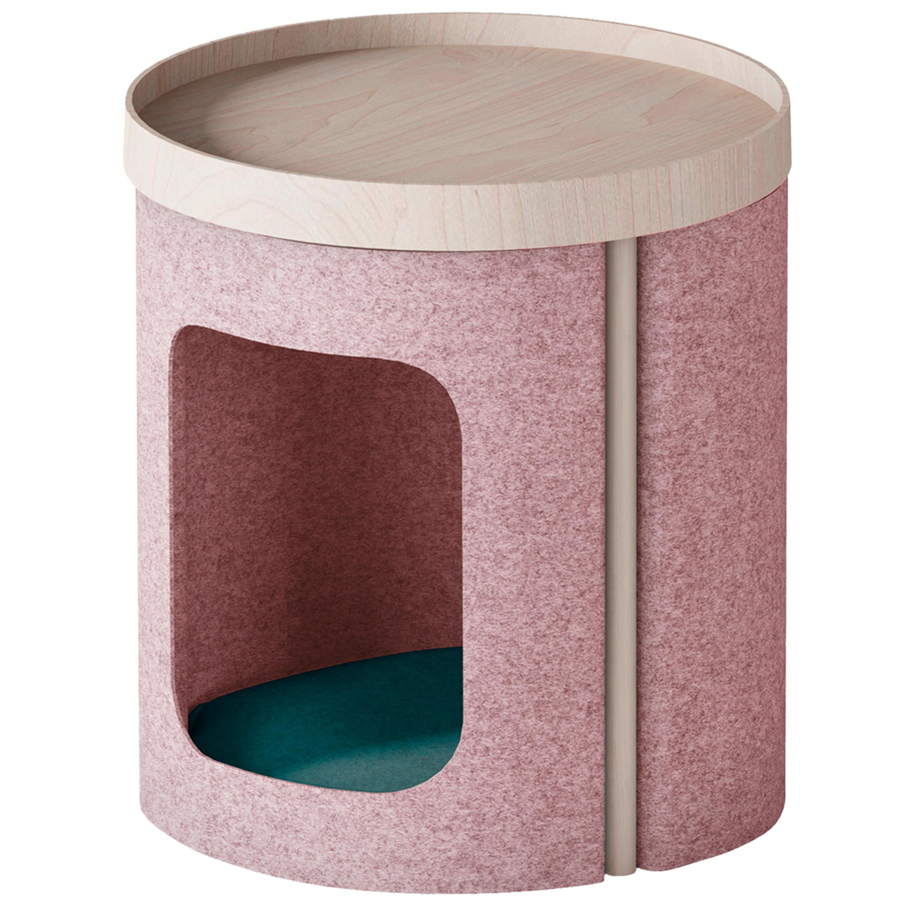 """Modern Coffee Table """"Lotto"""" in Ash and Rose Felt"""