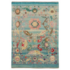 Modern Collection Handmade Colorful Wool Rug