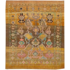 Modern Colorful Handmade Wool Rug