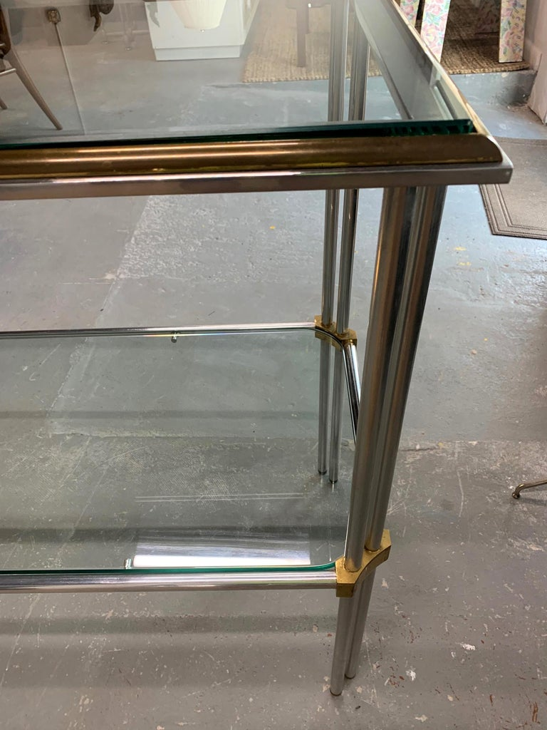 Aluminum Modern Console Table by John Vesey For Sale