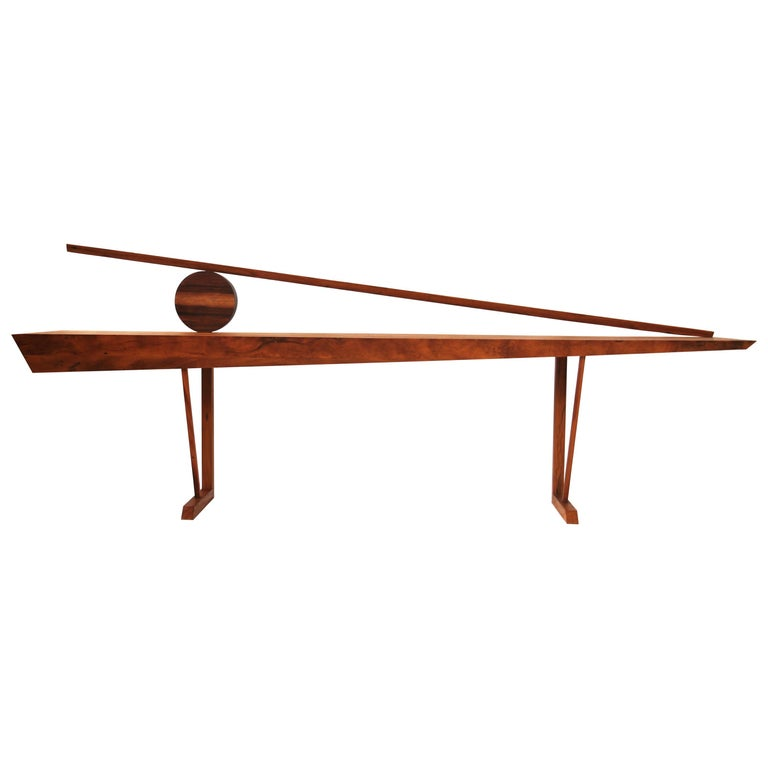 Modern Console Table in Hardwood, Orum For Sale