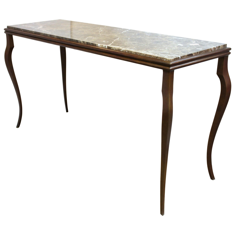 Wondrous Industrial Flooring Top Console Table With Cast Iron Cabriole Legs And Shelf Inzonedesignstudio Interior Chair Design Inzonedesignstudiocom