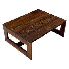 Modern Contemporary Nail Inlay Coffee Table No. 13 by Peter Sandback