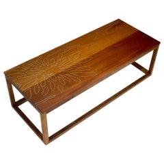 Modern Contemporary Nail Inlay Coffee Table No. 22 by Peter Sandback