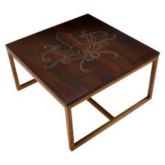 Modern Contemporary Nail Inlay Coffee Table No. 29 by Peter Sandback