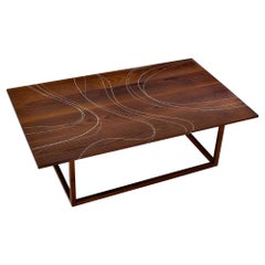 Modern Contemporary Nail Inlay Coffee Table No. 30 by Peter Sandback