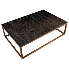 Modern Contemporary Nail Inlay Coffee Table No. 36 by Peter Sandback