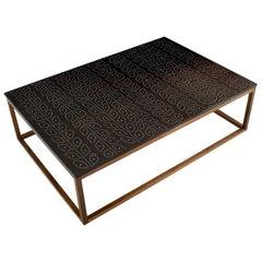 Modern Contemporary Nail Inlay Coffee Table No. 36 by Peter Sandback