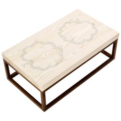 Modern Contemporary Nail Inlay Coffee Table No. 44 by Peter Sandback