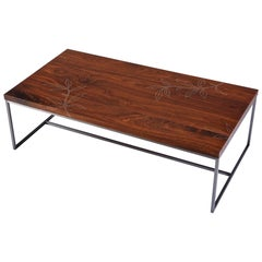 Modern Contemporary Nail Inlay Coffee Table No. 51 by Peter Sandback