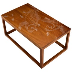 Modern Contemporary Nail Inlay Coffee Table No. 52 by Peter Sandback
