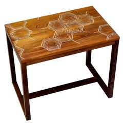 Modern Contemporary Nail Inlay End Table No. 204 by Peter Sandback