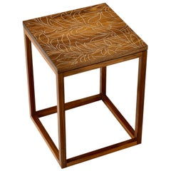 Modern Contemporary Nail Inlay End Table No. 205 by Peter Sandback
