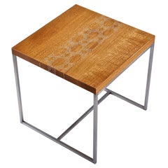 Modern Contemporary Nail Inlay End Table No. 208 by Peter Sandback