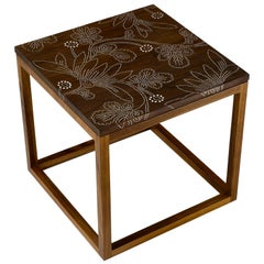 Modern Contemporary Nail Inlay End Table No. 211 by Peter Sandback