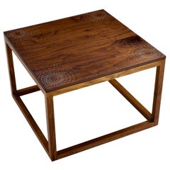 Modern Contemporary Nail Inlay End Table No. 215 by Peter Sandback