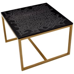 Modern Contemporary Nail Inlay End Table No. 217 by Peter Sandback