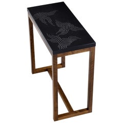 Modern Contemporary Nail Inlay End Table No. 220 by Peter Sandback