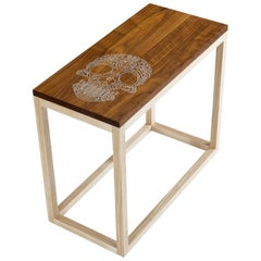 Modern Contemporary Nail Inlay End Table No. 221 by Peter Sandback