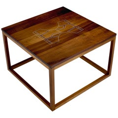 Modern Contemporary Nail Inlay End Table No. 224 by Peter Sandback