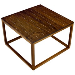 Modern Contemporary Nail Inlay End Table No. 225 by Peter Sandback