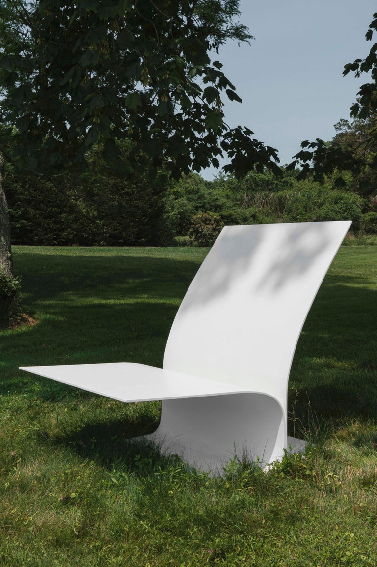North American Modern Contemporary Outdoor Minimalist Bird Chair in Recycled Metal For Sale