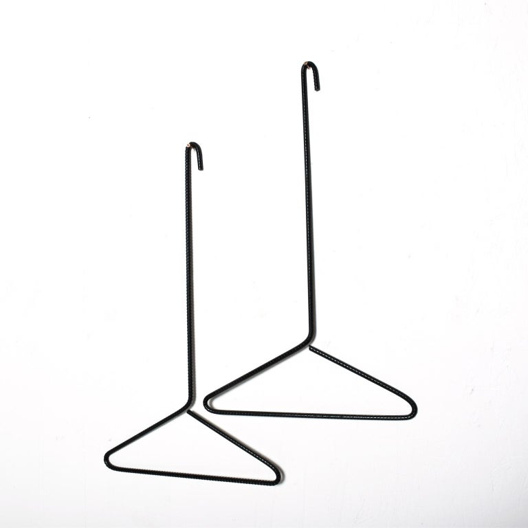 Modern Contemporary Sculptural Iron Coat Hangers by AMBIANIC In New Condition For Sale In National City, CA