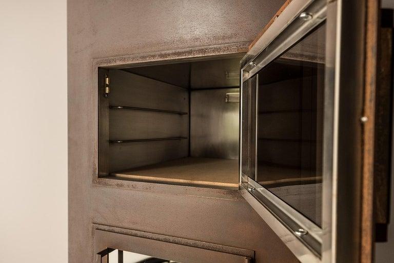 Italian Modern Corten Freestanding Oven, TOVEN For Sale