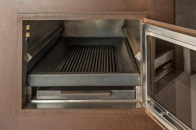 Brushed Modern Corten Freestanding Oven, TOVEN For Sale