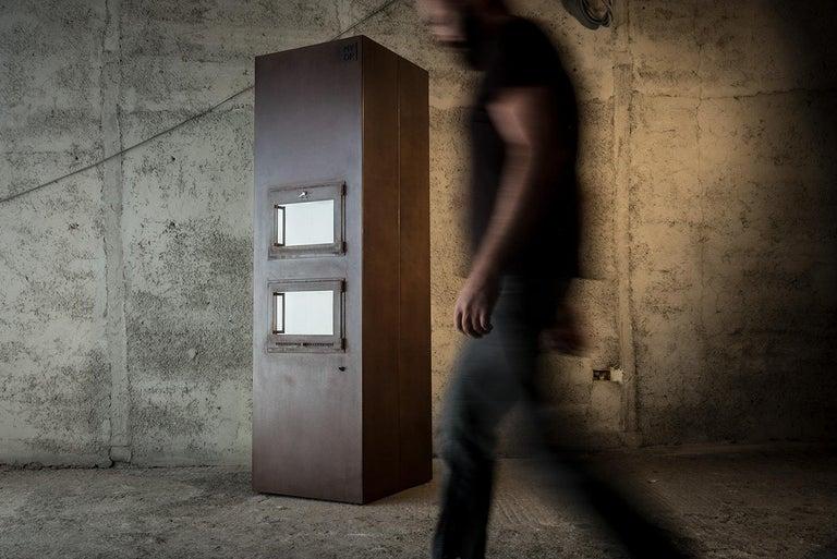 Contemporary Modern Corten Freestanding Oven, TOVEN For Sale