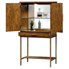 Modern Country Walnut Bar Cabinet
