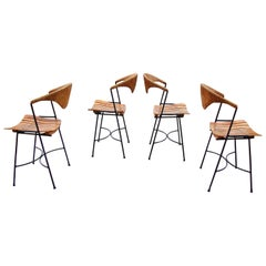 Modern Craftsman Style, Dining Side Chairs by Arthur Umanoff, USA