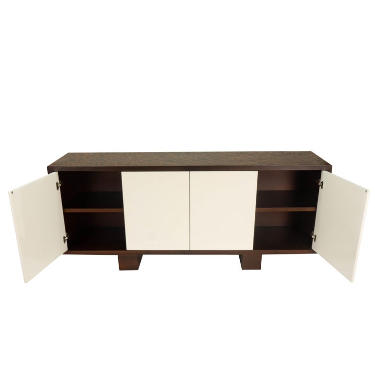 Modern Credenza with Push-Open Doors and Textured Finish on consoles and credenzas, made in usa modern credenzas, modern sideboards with sliding door, country style credenzas, industrial modern credenzas, post modern credenzas, modern sideboards and hutches,