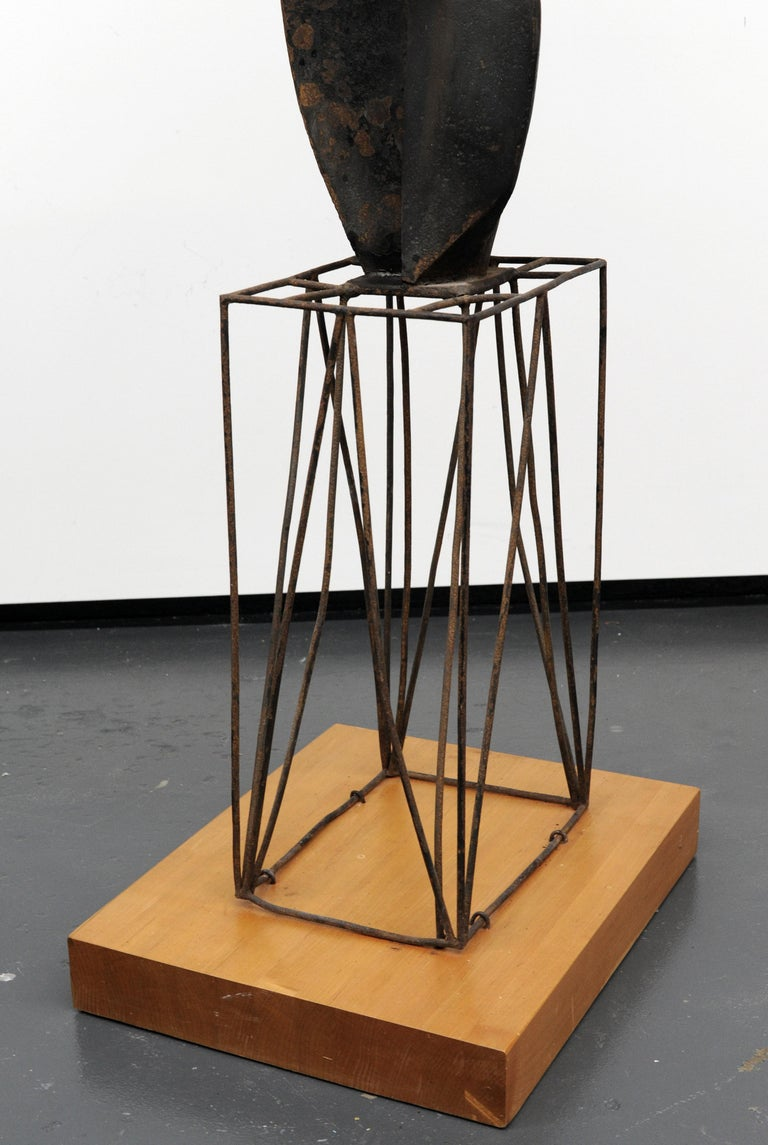 Modern Cubist Abstract Metal Sculpture, 1950s For Sale 8
