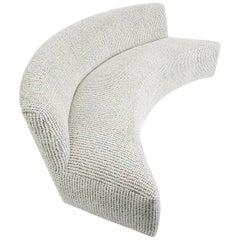 Modern Curved Armless Sofa