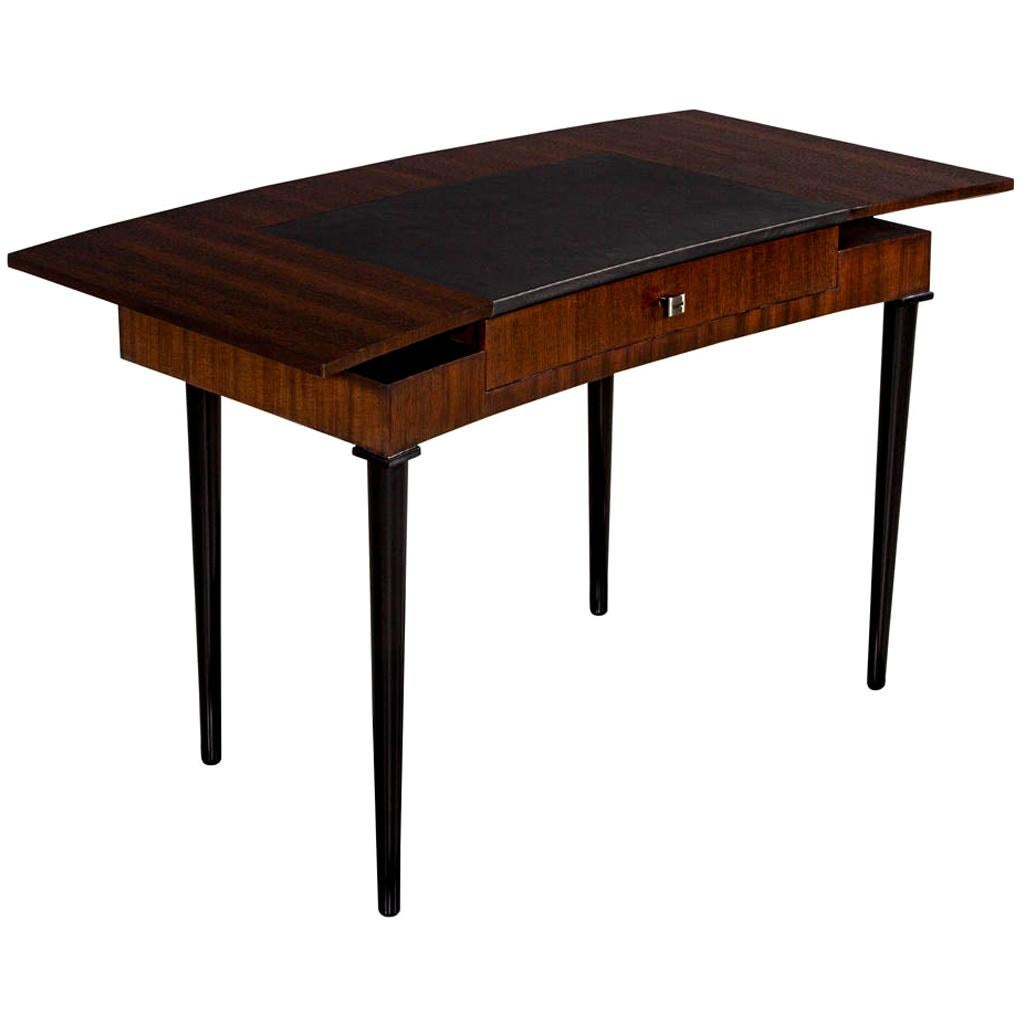Modern Curved Mahogany Writing Desk