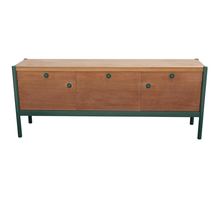 Modern Custom Finish and Green Lacquer Credenza or Sideboard ... on modern sideboards and hutches, industrial modern credenzas, country style credenzas, post modern credenzas, modern sideboards with sliding door, made in usa modern credenzas, consoles and credenzas,