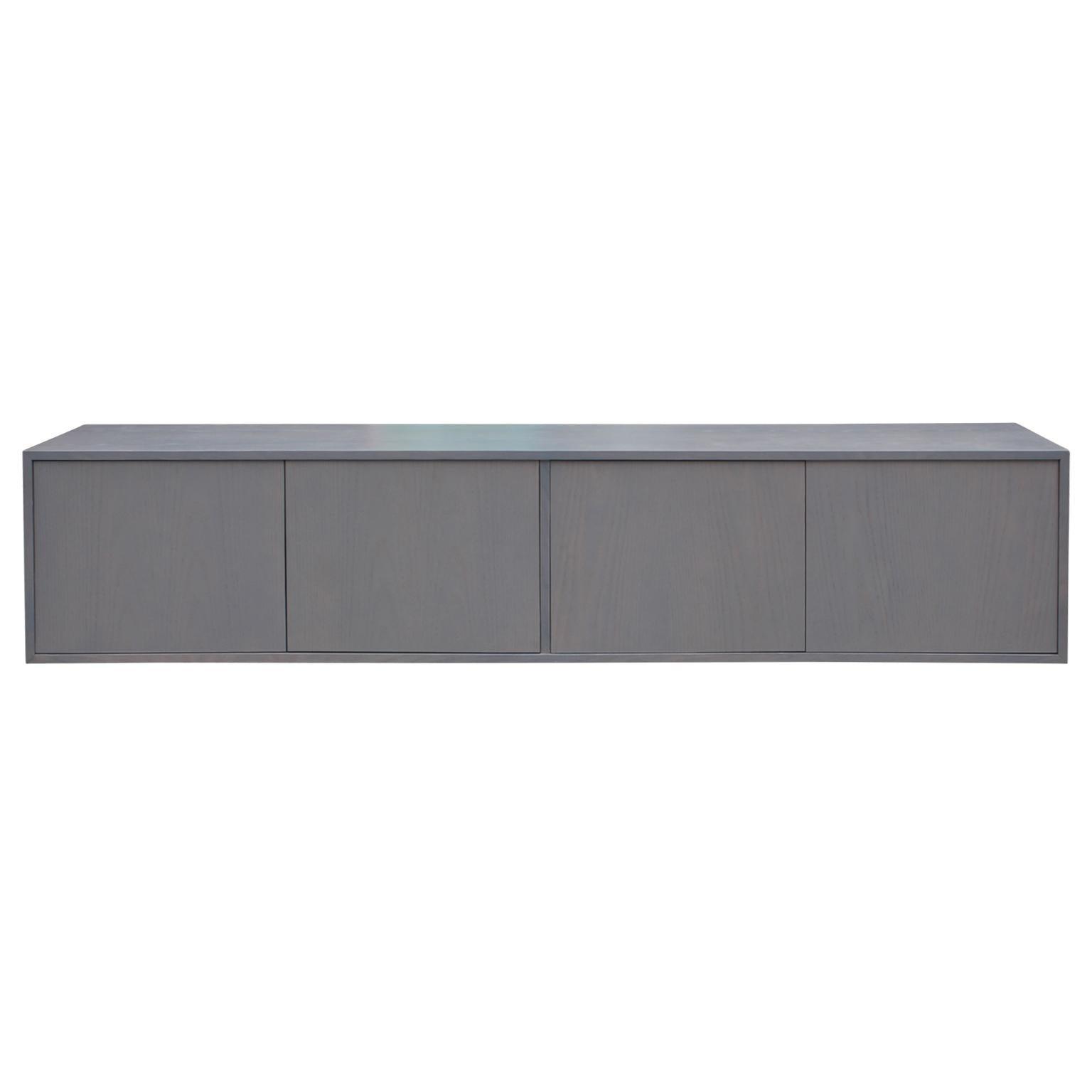 Modern Custom Grey Floating Sideboard