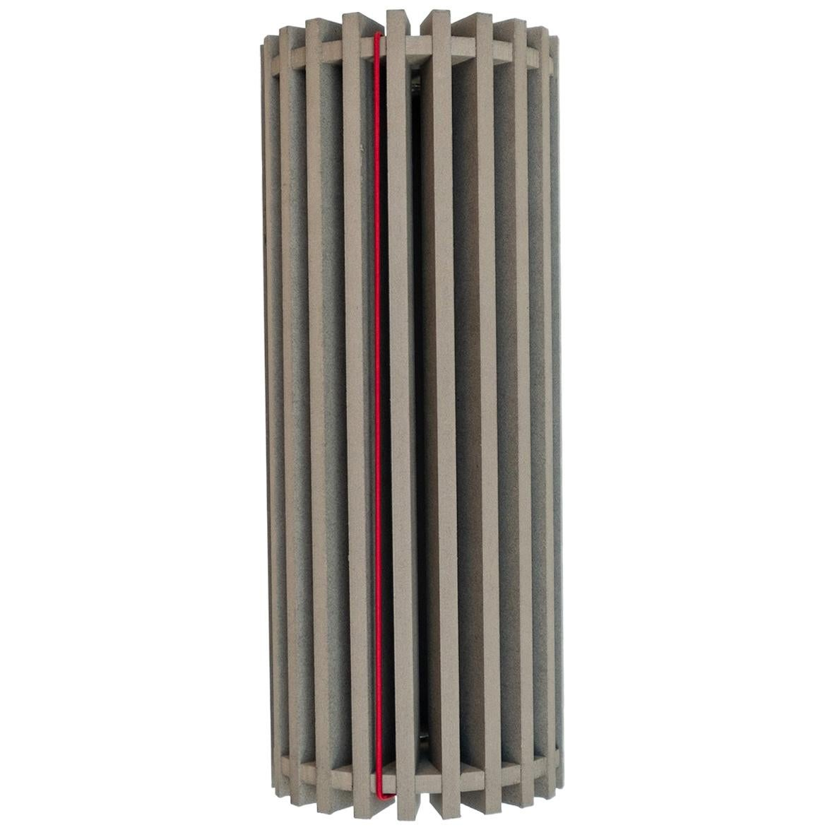 modern cylindrical container RANDOme Cemento