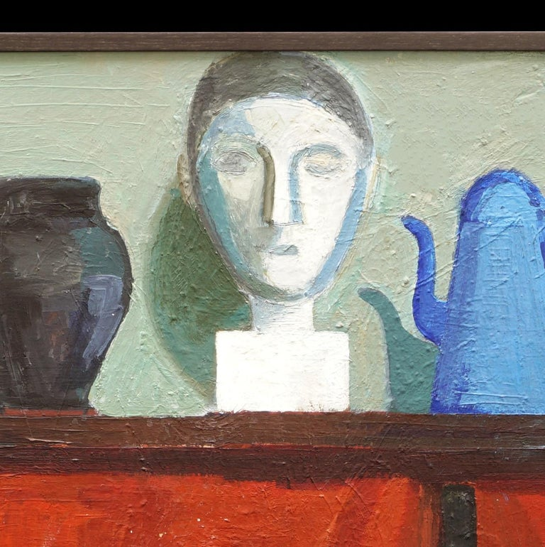 Modern Danish Composition with Vase, Jugs, Sculpture, by Hermann Stilling, Cph In Good Condition For Sale In Aabenraa, DK