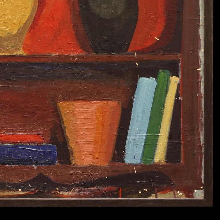 Mid-20th Century Modern Danish Composition with Vase, Jugs, Sculpture, by Hermann Stilling, Cph For Sale