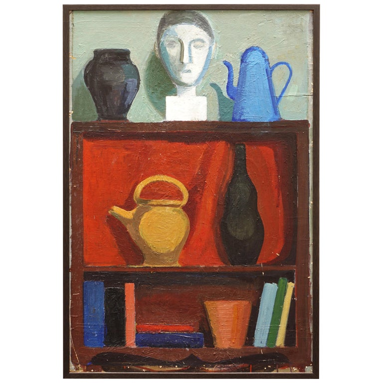 Modern Danish Composition with Vase, Jugs, Sculpture, by Hermann Stilling, Cph For Sale