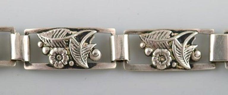Modern Danish Design, Bracelet in Silver In Excellent Condition For Sale In bronshoj, DK