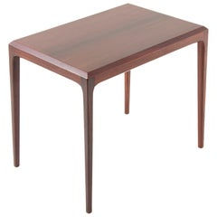 Modern Danish Rosewood Side Table by Johannes Andersen for CFC Silkeborg